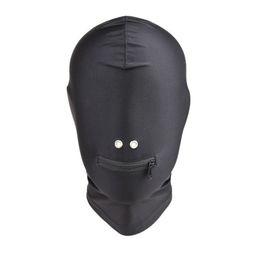 $enCountryForm.capitalKeyWord Australia - Fetish Bdsm Bondage Sex Hoods Flexible Head Mask Erotic Play Gear Torture Trainer Adult Sex Toys for Women Black GN312400042