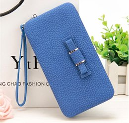 Photo Phone Cases NZ - New style women's bow letter pencil case wallet Ms. Lunch box style purse Mobile Phone Bags Free Shipping 1330