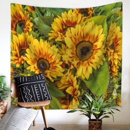 cloth painting designs 2019 - beach towel Beach towel factory direct original design oil painting starry sky sunflower Fatima tapestry hanging cloth 1