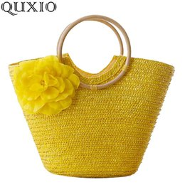 $enCountryForm.capitalKeyWord Australia - uggage s Handbags 2019 New Rattan Handle Woven Bag Flowers Straw Bag Leisure Vacation Tote Beach Bag For Women Luxury Handbags Designer M...