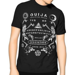 $enCountryForm.capitalKeyWord Australia - New Ouija Board Bones T Shirt Black Wholesale Discount Occult Spirit Pentagram Star Gothic Top Tee For Sale Natural Cotton Tee Shirts