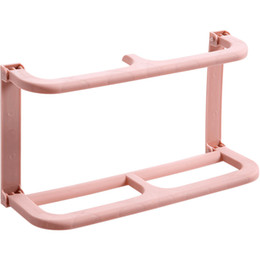 Mounted clothes rack online shopping - Wall Mounted Plastic Shoe Rack Paste Type Hanger Simple And Easy Shelves Pure Color Non Slip Integral Type Save Space lxb1