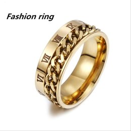 $enCountryForm.capitalKeyWord UK - European and American individual Roman numeral titanium ring rotating chain ring rope chain jewelry