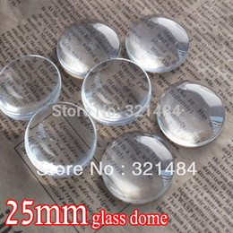 $enCountryForm.capitalKeyWord NZ - bulk 200piece lot 25mm flatback round clear glass cabochon tray pendant cover glass dome tile seals