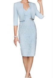 $enCountryForm.capitalKeyWord Australia - 2019 Lace Short Mother Suit Gowns Formal Wear With Wrap Mother Of Groom Wedding Guest Dress Evening Mother Of The Bride Dress