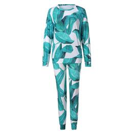 $enCountryForm.capitalKeyWord Australia - 2018 New Fashion Spring And Autumn Women Print Long Sleeve O-neck Tracksuits Set Lounge Wear Ladies Top Suit Pant Plus Size MX190810