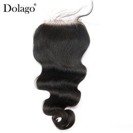 $enCountryForm.capitalKeyWord Australia - Lace Closures Brazilian Hair Body Wave Human Hair Closure Bleached Knots Dolago Remy Top Closures Pre Plucked