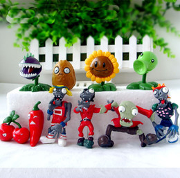 plants vs zombie figures Australia - Toys Hobbies Action Toy Figures 10pcs set Plants VS Zombies PV Z Collection Figures plant zombies figure Toys Free Shipping