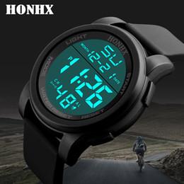 Luxury Diving Watches For Men Australia - Luxury Men Analog Digital Military Army Sport LED Waterproof For Shower Diving Wrist Watch reloj digital reloj hombre deportivo