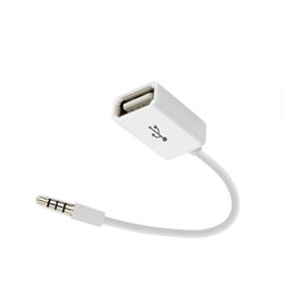 Audio Jack Cord Australia - Car MP3 Player Converter 3.5 mm Male AUX Audio Jack Plug To USB 2.0 Female Converter Cable Cord Adapter for USB Accessories