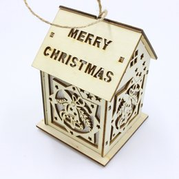 cabin lighting Australia - Christmas Decorations Light Cabins Hotel Bar Xmas Tree Pendant door Window Display ornament small house SH190918