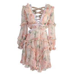 2e6bec54f900 Full long one piece dresses online shopping - Ruffles Floral Dress Backless One  Piece Skirt Women