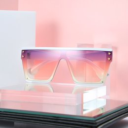 large square sunglasses mirror NZ - 2019 New Fashion Star insert Womens Oversized Large thick frame Bold Square Sunglasses with cases and box