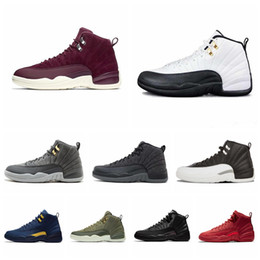 $enCountryForm.capitalKeyWord Australia - High Quality 2019 New 12s CNY Chinese New Year White Gold Men Shoes 12 FIBA Bumblebee Game Royal Sports Sneakers With Box