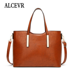 office tote bags for women 2019 - ALCEVR Vintage Women's Luxury Shoulder Bag High Quality Crossbody Bags for Women Office Messenger Bag Female Totes