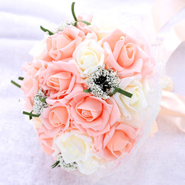 $enCountryForm.capitalKeyWord Australia - Artificial Flowers Bride holding bouquets Rolled rose flowers wreath wedding props bridesmaid holding flowers photography wedding decoration
