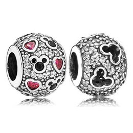 $enCountryForm.capitalKeyWord Australia - 100% 925 Sterling Silver Charms Diseny Silhouettes And Sparkling & Hearts Charms Fit Original Bracelet Diy Jewelry