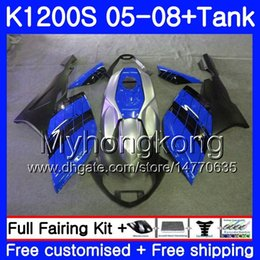 fairing bmw k NZ - Body +Tank For BMW K1200 S K 1200 S K1200S Blue black hot 05 06 07 08 09 10 311HM.27 K-1200S K 1200S 2005 2006 2007 2008 2009 2010 Fairings