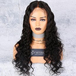 $enCountryForm.capitalKeyWord Australia - Full Lace Human Hair Wigs Brazilian Remy Hair Deep Wave Wigs Pre-plucked Bleached Knots Natural Hairline With Babyhair