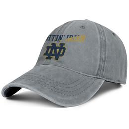 Fighting Australia - Notre Dame Fighting Irish football logo Mesh grey mens and womens Denim hats wash fishing hat styles make your own plain Unisex Dad caps