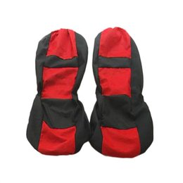 Blue Gray Car NZ - Car Seat Covers 4 Pcs Set Universal Four Seasons Auto Seat Styling Accessories red, blue, beige, gray