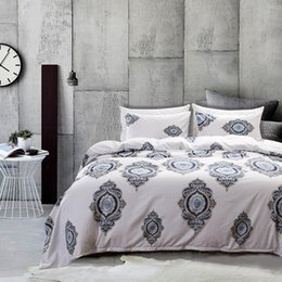 elegant twin bedding sets 2019 - Free shipping Holiday Gift Elegant European Circles pattern Bedding Quilt duvet cover set with pillow case Twin Queen Ki