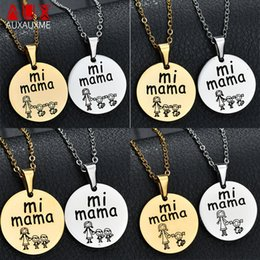 $enCountryForm.capitalKeyWord Australia - Auxauxme 5 Style Simple mama Pendant Necklace Can Engrave Words Date Mother Girl Boy Stainless Steel Necklace For Mom Gifts