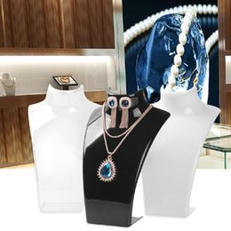 mannequin jewelry displays stand rack UK - Acrylic Mannequin Necklace Earrings Jewelry Display Stand Rack Holder Organizer Great for counter showcase and home dresser use