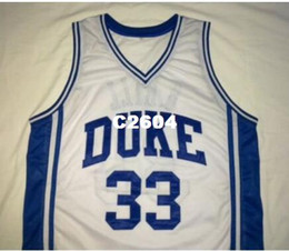 6cb16ec7b007 Men GRANT HILL  33 DUKE Blue Devils BLUE White College jersey Size S-4XL or custom  any name or number jersey