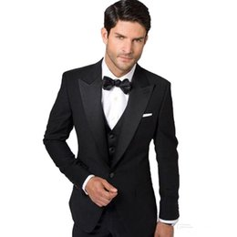 $enCountryForm.capitalKeyWord UK - Handsome One Button Groomsmen Peak Lapel Groom Tuxedos Men Suits Wedding Prom Dinner Best Man Blazer(Jacket+Pants+Tie+Vest) 691
