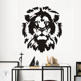 $enCountryForm.capitalKeyWord Australia - 1 Pcs Head Of Lion Wall Stickers Home Decor Living Room Removable Animals Wall Decals Decoration Adesivo De Parede