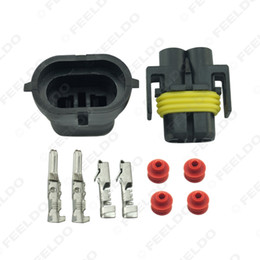 wholesale motorcycle connectors Australia - 20set Car Motorcycle H8 H9 H11 880 881 Waterproof DIY Male Female Quick Adapter Connector Terminals Plug Kit #2752