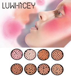 color makeup cosmetic blush blusher palette NZ - Natural Blush Palette Hot Makeup Blush 8 color Bronzer Long Lasting Matte Face Blush Powder Cosmetic Ball Blusher 3 in 1 with brush