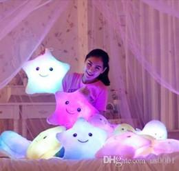 White Star Toys Australia - Stuffed Dolls LED Stars Light Colorful Pillows Popular Plush Toys for Kids shinning star gift for baby