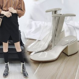 $enCountryForm.capitalKeyWord NZ - Current2019 Pvc Shoe Short Ins Exceed Fire Real Transparent Sandals Woman Candy Coarse Color With High-heeled Shoes Cool Boots