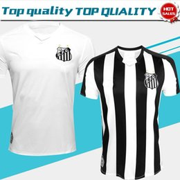 Uniform shirts for men online shopping - 2019 Santos Home white Away Soccer Jersey For Adult Santos Futebol Clube White Black Football Shirt sports Uniforms On Sales