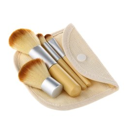 Wholesale Synthetic Hair Makeup Brushes Bamboo handle Makeup Brush set Travel Cosmetic Make Up Foundation Blush brush Face Brush