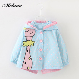 kids army jackets NZ - Giraff Baby Outwear Winter Baby Girls Fashion Cartoon Hooded Coats Cute Baby Jackets Kids Girls Clothes For Children ClothingMX190912