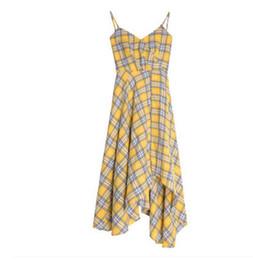 $enCountryForm.capitalKeyWord UK - Very immortal French niche platy skirt new 2019 summer French plaid dress super fairy suspenders group