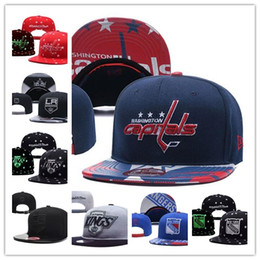 Wholesale Hat WASHINGTON CAPITALS Ice Hockey Knit Beanies Embroidery Adjustable cap Embroidered Snapback Caps NEW YORK RANGERS Stitched Hats One Size