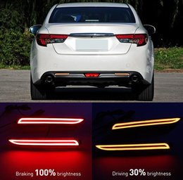 camry lights NZ - free shipping For Toyota Camry 2009 - 2014 Multi-functions Car Tail Light LED Rear Fog Lamp Bumper Light Auto Bulb Brake Light Reflector
