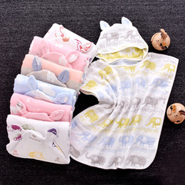 $enCountryForm.capitalKeyWord Australia - High Quality Natural Safety Cute 100% Cotton baby bathrobe 100% cotton baby bath towel and cape baby bath robe with hood