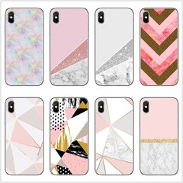 $enCountryForm.capitalKeyWord Australia - For iPhone Geometrical Marble Phone Case 27 Patterns Soft TPU Phone Cover ins Style Phone Shell Christmas Gift For iPhone 8 X XR XS Max