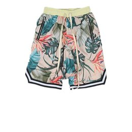 c9ecf184836 Summer High Street Loose Mens Shorts Nice Pop Floral Print Silk Cotton  Beach Shorts Justin Bieber Famous Strar Hip Hop Style Casual Shorts