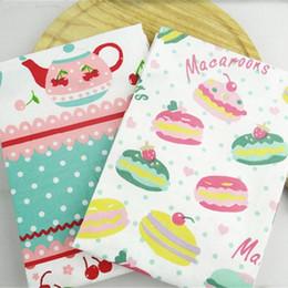 Restaurant Towels Australia - Cute High-quality Cherry Macaron Printed Cotton Table Napkins Tea Towels Kitchen Restaurant Mats 38*58cm Free Shipping