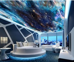 Colorful wallpapers online shopping - Fantasy colorful starry ceiling mural D Living Room Bedroom Ceiling Wallpaper Papel De Parede