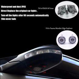 $enCountryForm.capitalKeyWord Australia - New Car styling 2pcs LED Side Under Mirror projector logo light For Explorer Mondeo FUSION Taurus EDGE F150 TAURUS auto accessory lamp ghost