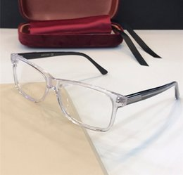 Discount designer eyewear cases - New Fashion Luxury Designer Optical Glasses 0378O Simple Square glasses Trend atmosphere Style Eyewear Best selling Come