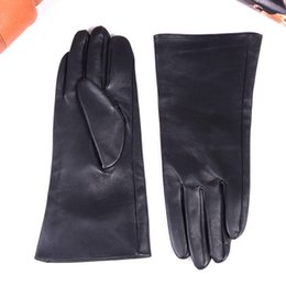 """$enCountryForm.capitalKeyWord Australia - 30cm 12"""" New Men's Real Leather Double Sides Leather Unlined Middle long Gloves Customizable motocycle Winter Warm Gauntlet gloves"""