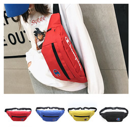 Funny backpacks online shopping - Waist Bag Luxury Designer Cross Body Bags Champion Letters Shoulder Bag Mens Womens Oxford Fabric Waist Bags Sport Beach Funny Packs C51305